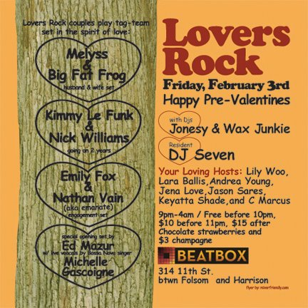 Lovers rock house on the hill music san francisco for House music lovers